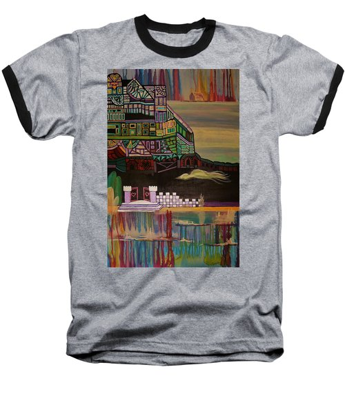 Baseball T-Shirt featuring the painting Atlantis by Barbara St Jean
