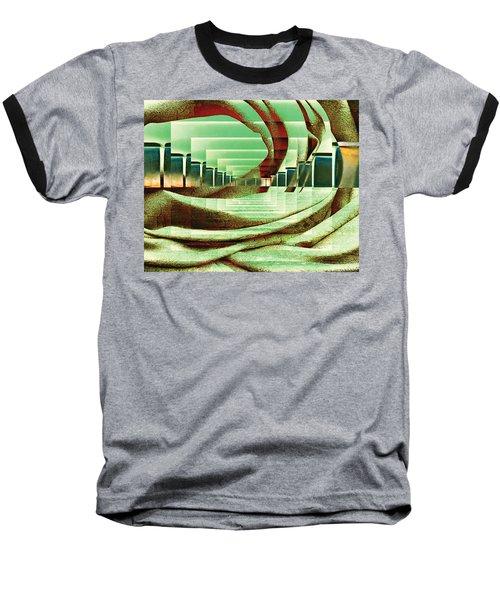 Baseball T-Shirt featuring the digital art Atrium by Paula Ayers