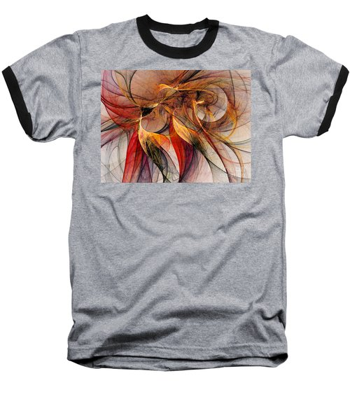 Attempt To Escape-abstract Art Baseball T-Shirt