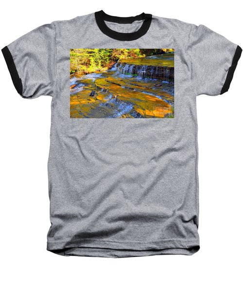 Baseball T-Shirt featuring the photograph Au Train Falls by Terri Gostola