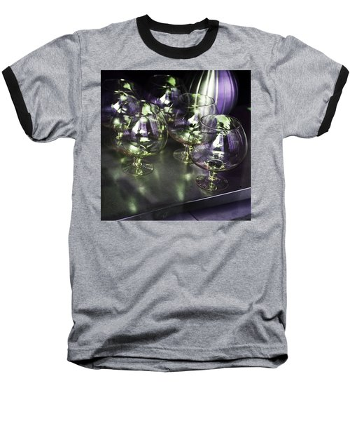 Aubergine Paris Wine Glasses Baseball T-Shirt