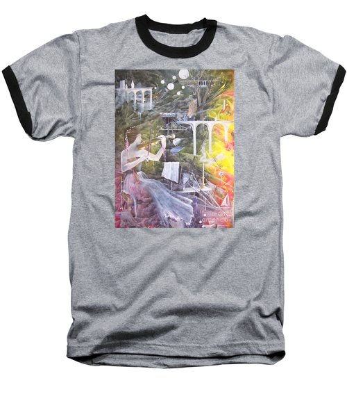 Baseball T-Shirt featuring the painting Aubry's Nocturne by Jackie Mueller-Jones