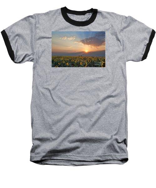 August Dreams Baseball T-Shirt by Jim Garrison