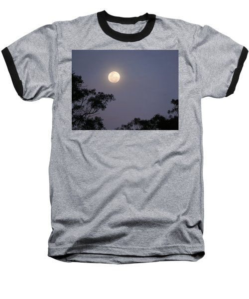 Baseball T-Shirt featuring the photograph August Moon by Evelyn Tambour
