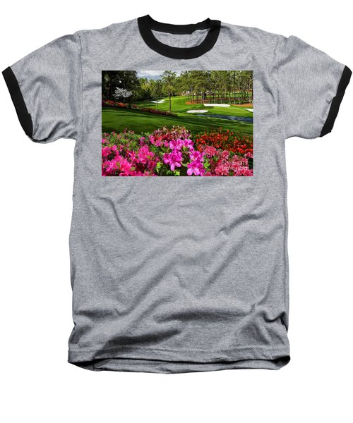 Augusta Azaleas 16th And 6th Baseball T-Shirt by Tim Gilliland