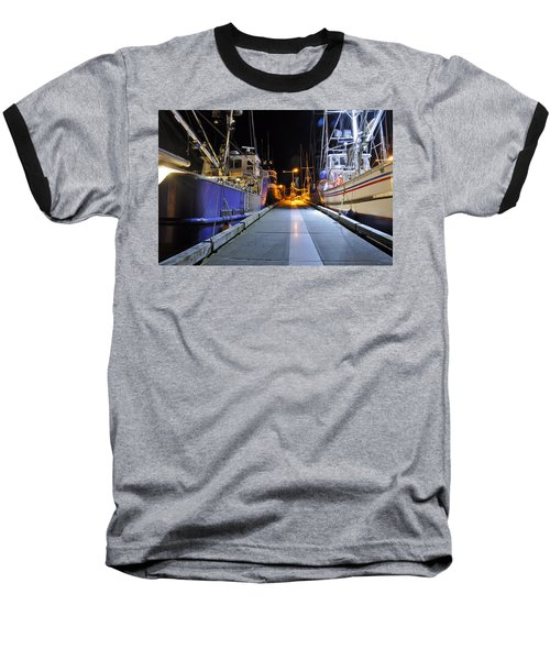 Baseball T-Shirt featuring the photograph Auke Bay By Night by Cathy Mahnke