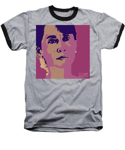 Aung San Suu Kyi Baseball T-Shirt by Jean luc Comperat