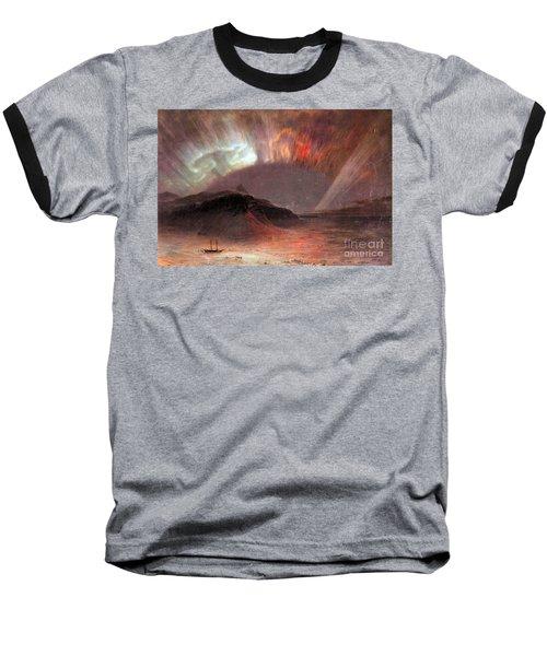Aurora Borealis By Frederick Edwin Church Baseball T-Shirt