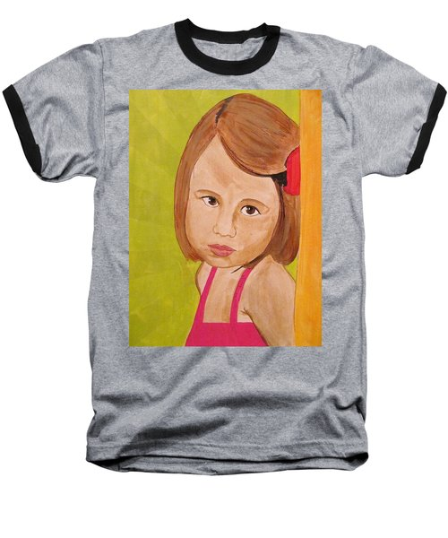 Baseball T-Shirt featuring the painting Aurora by Michelle Dallocchio