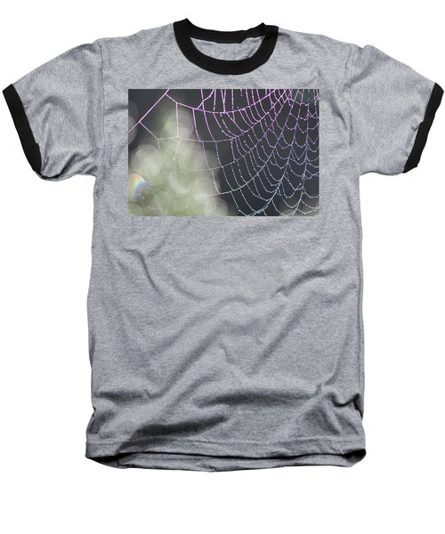 Baseball T-Shirt featuring the photograph Aurora's Web by Cathie Douglas