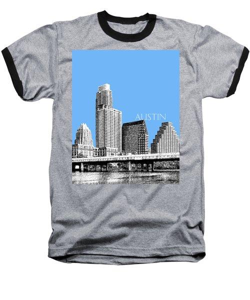 Austin Skyline - Sky Blue Baseball T-Shirt