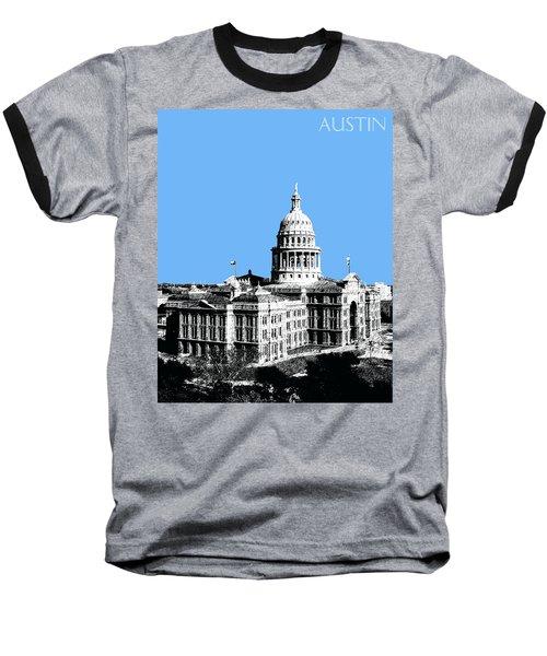 Austin Texas Capital - Sky Blue Baseball T-Shirt
