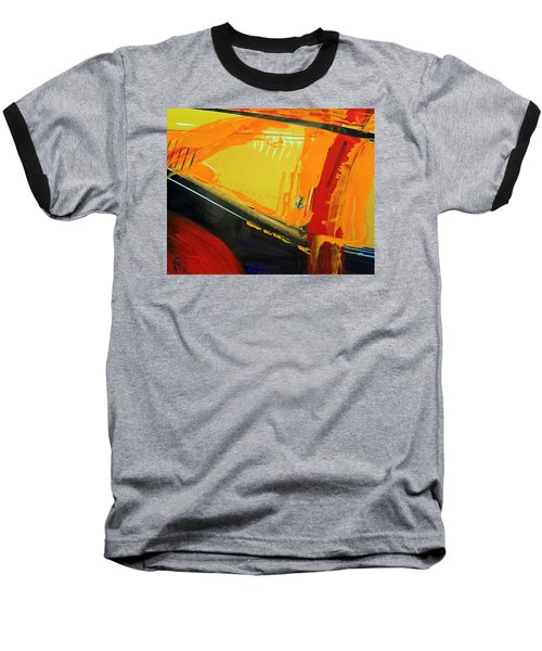 Abstract Composition No 2 Baseball T-Shirt by Walter Fahmy