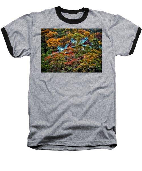 Baseball T-Shirt featuring the photograph Autum In Japan by John Swartz