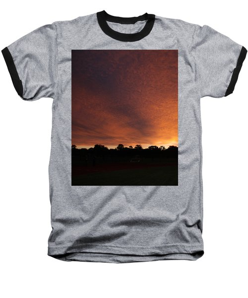 Autum Sunset Baseball T-Shirt