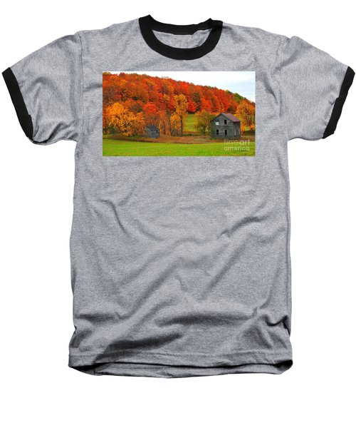 Baseball T-Shirt featuring the photograph Autumn Abandoned by Terri Gostola