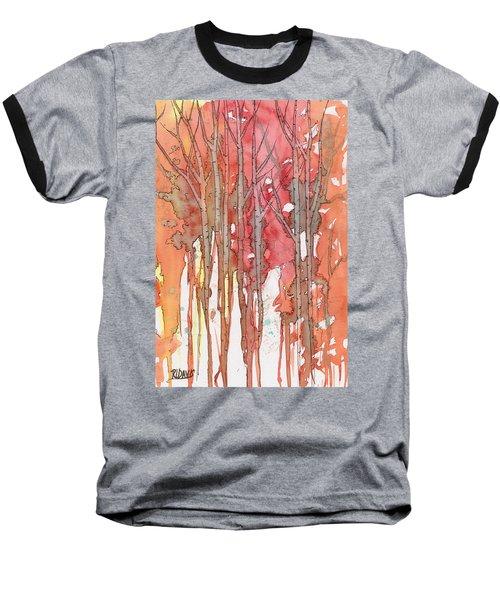 Autumn Abstract No.1 Baseball T-Shirt