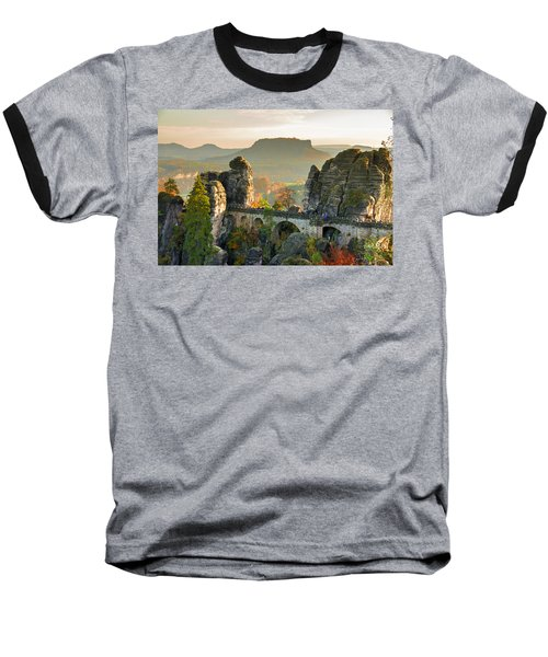 Autumn Afternoon On The Bastei Bridge Baseball T-Shirt