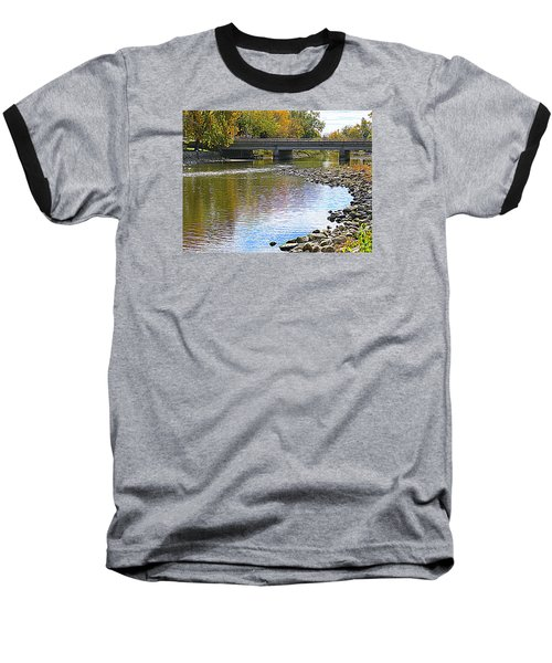 Autumn Along The Fox River Baseball T-Shirt
