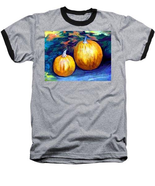 Autumn Artwork With Pumpkins Baseball T-Shirt