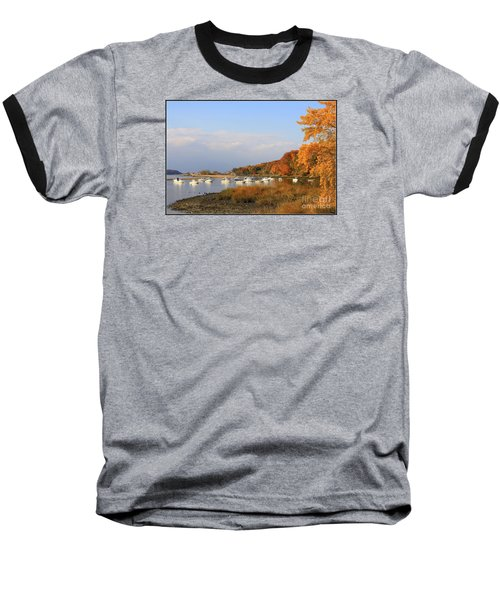 Autumn At Cold Spring Harbor Baseball T-Shirt by Dora Sofia Caputo Photographic Art and Design