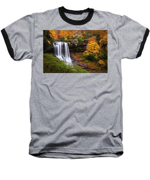 Autumn At Dry Falls - Highlands Nc Waterfalls Baseball T-Shirt