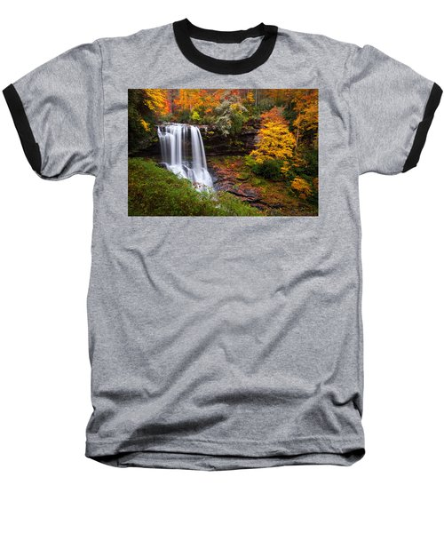 Autumn At Dry Falls - Highlands Nc Waterfalls Baseball T-Shirt