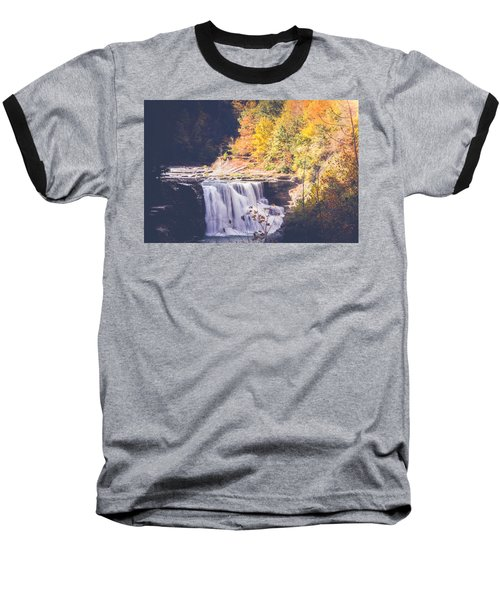 Autumn At Letchworth Baseball T-Shirt by Sara Frank