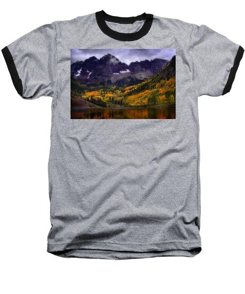 Baseball T-Shirt featuring the photograph Autumn At Maroon Bells by Ellen Heaverlo