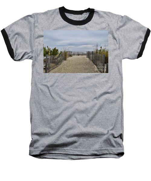 Autumn At The Beach Baseball T-Shirt