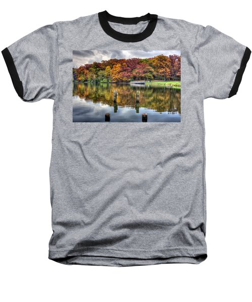 Autumn At The Pond Baseball T-Shirt