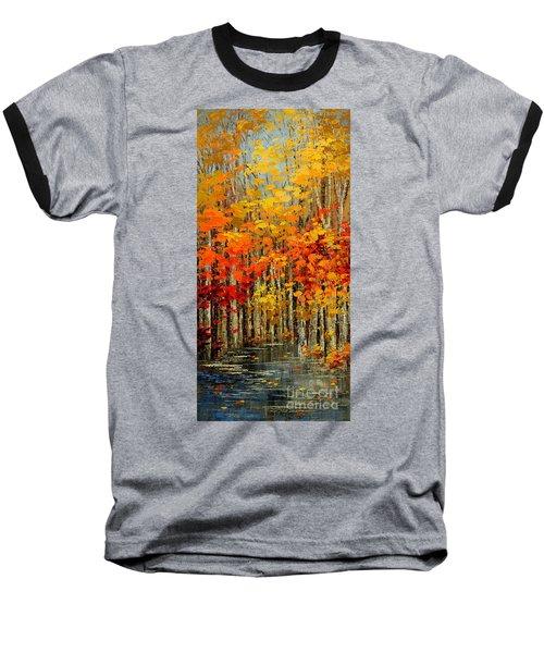 Autumn Banners Baseball T-Shirt by Tatiana Iliina