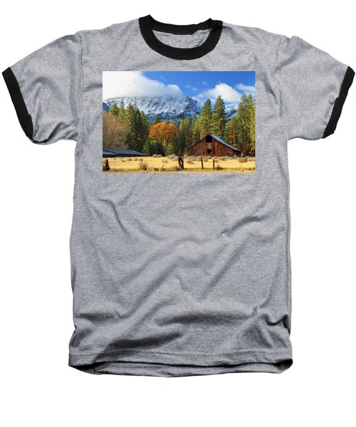 Autumn Barn At Thompson Peak Baseball T-Shirt