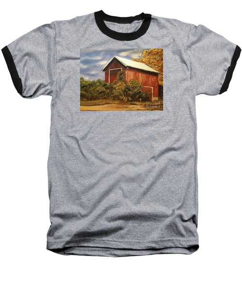 Autumn - Barn - Ohio Baseball T-Shirt