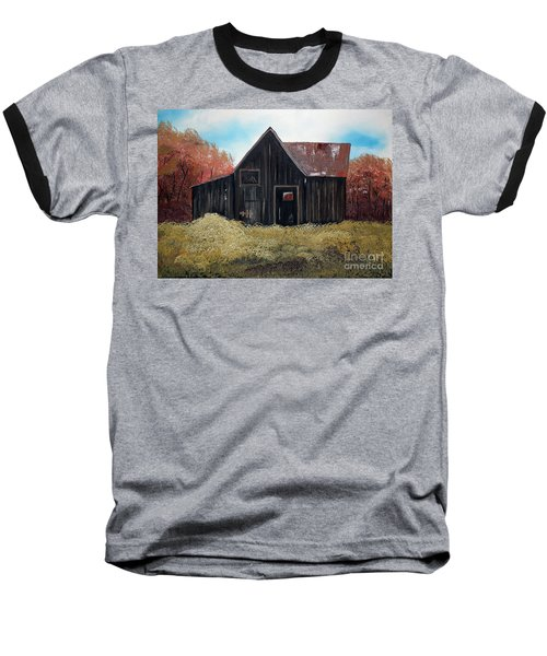 Autumn - Barn -orange Baseball T-Shirt