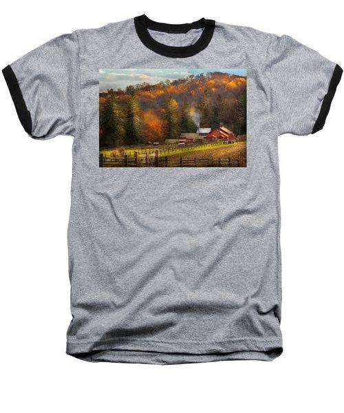 Autumn - Barn - The End Of A Season Baseball T-Shirt