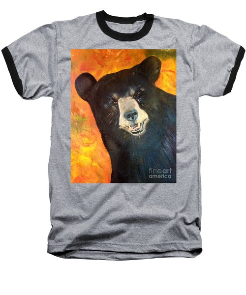 Autumn Bear Baseball T-Shirt