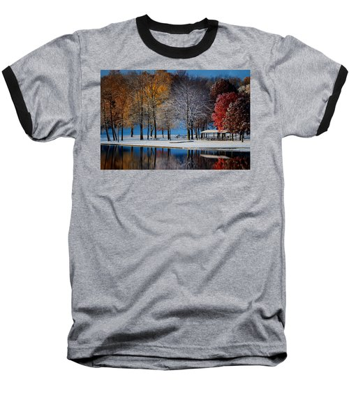 Autumn Blues Baseball T-Shirt