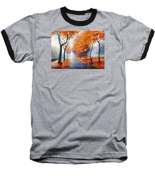 Baseball T-Shirt featuring the photograph Autumn Boulevard by Charmaine Zoe