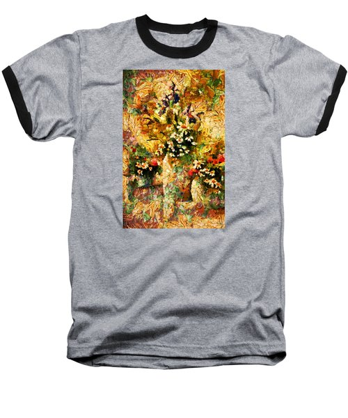 Autumn Bounty - Abstract Expressionism Baseball T-Shirt