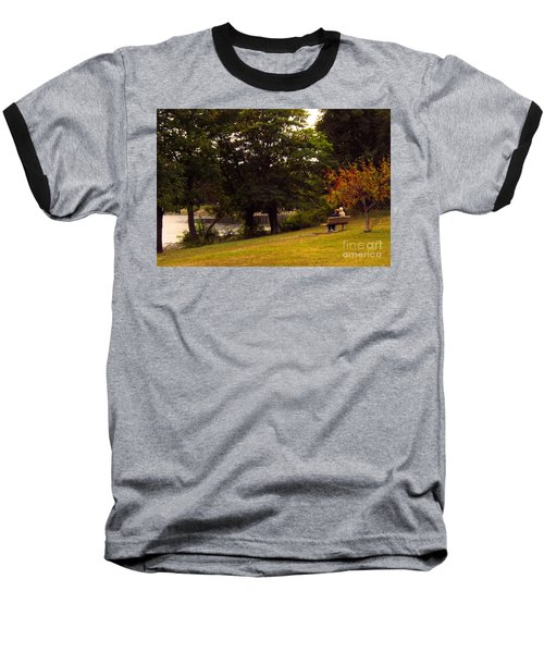 Autumn By The River Baseball T-Shirt