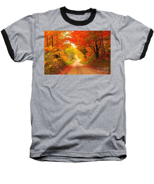 Baseball T-Shirt featuring the photograph Autumn Cameo 2 by Terri Gostola