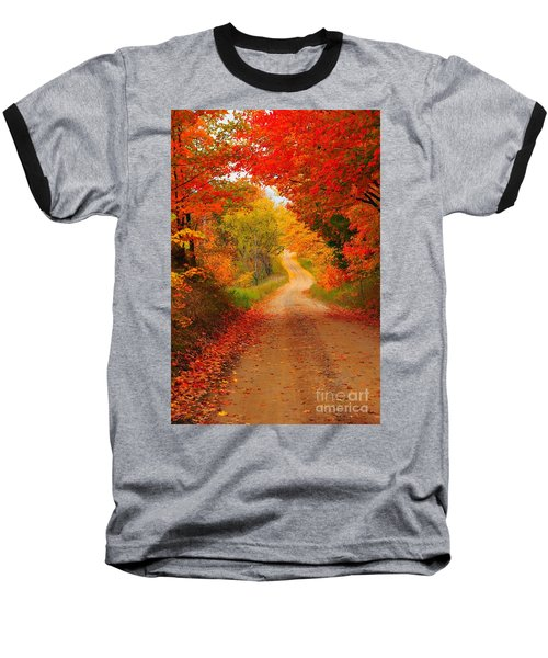 Baseball T-Shirt featuring the photograph Autumn Cameo by Terri Gostola