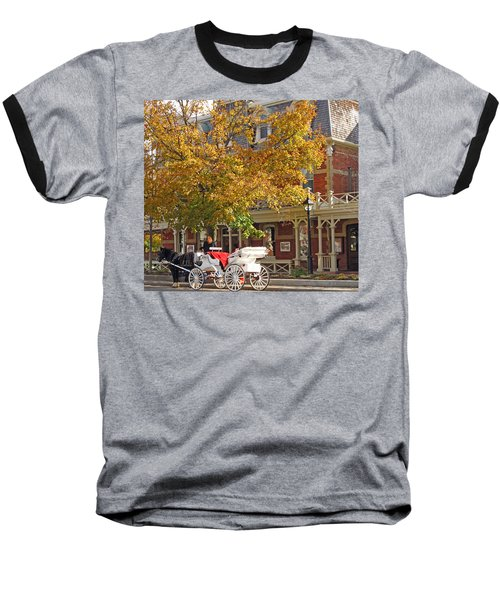 Autumn Carriage For Hire Baseball T-Shirt