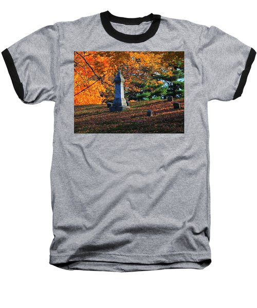 Autumn Cemetery Visit Baseball T-Shirt