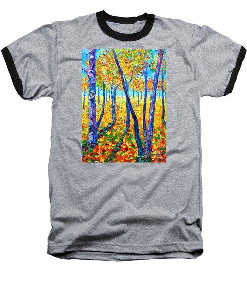 Autumn Colors Baseball T-Shirt by Ana Maria Edulescu