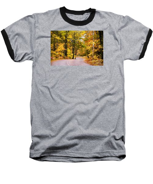 Autumn Colors - Colorful Fall Leaves Wisconsin - II Baseball T-Shirt by David Perry Lawrence