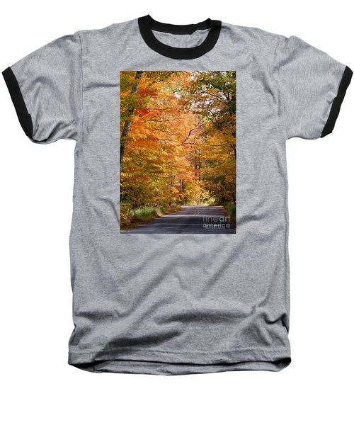 Baseball T-Shirt featuring the photograph Autumn Colors - Colorful Fall Leaves Wisconsin IIi by David Perry Lawrence