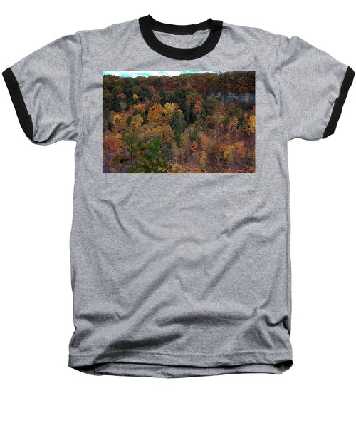 Baseball T-Shirt featuring the photograph Autumn Colors In Taughannock State Park Ithaca New York by Paul Ge