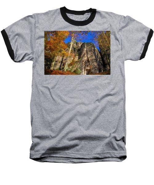 Autumn Colors In The Saxon Switzerland Baseball T-Shirt
